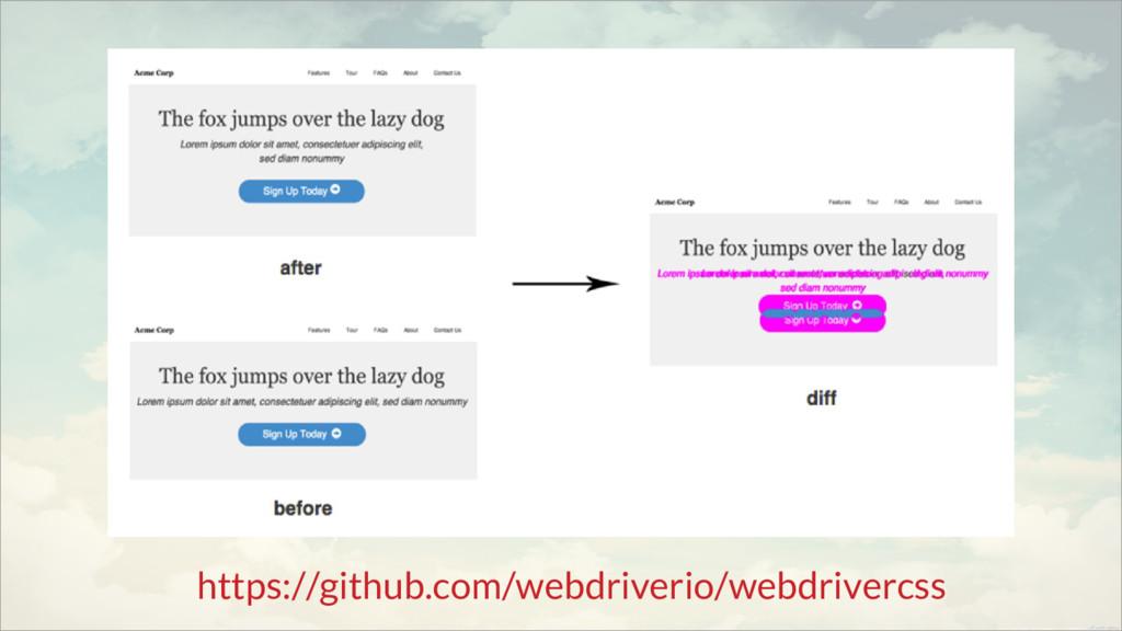 https://github.com/webdriverio/webdrivercss