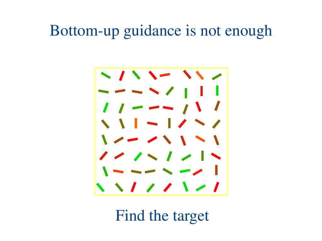 Find the target Bottom-up guidance is not enough