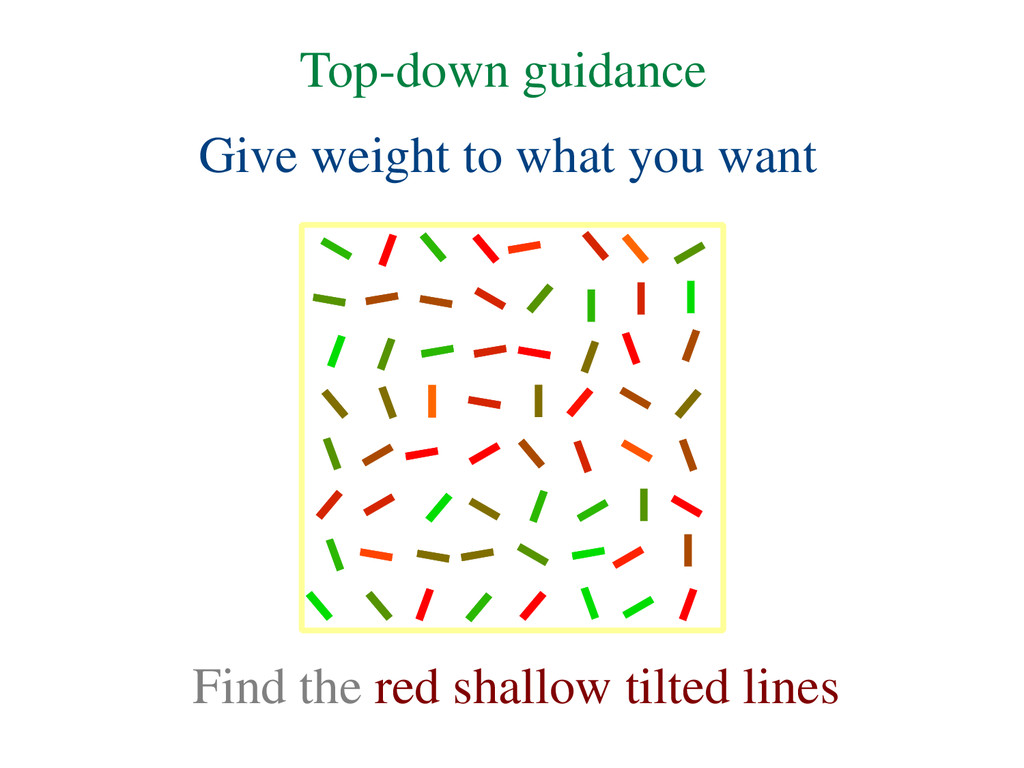 Give weight to what you want Find the red shall...