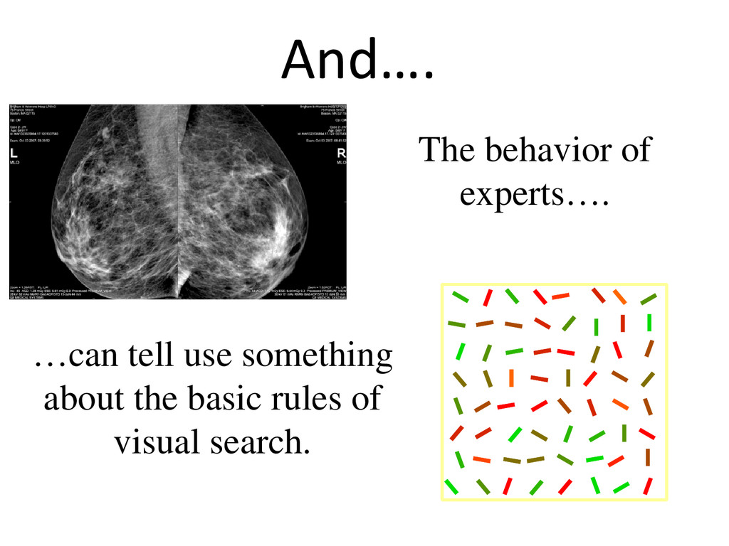 And…. The behavior of experts…. …can tell use s...