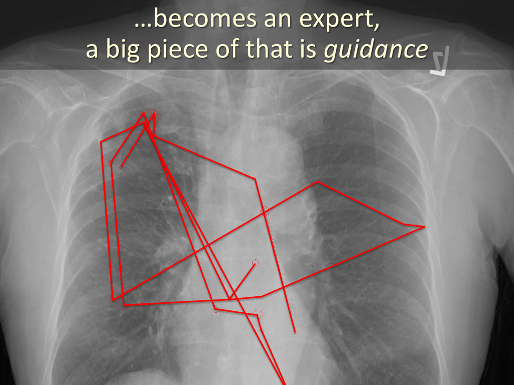…becomes an expert, a big piece of that is guid...