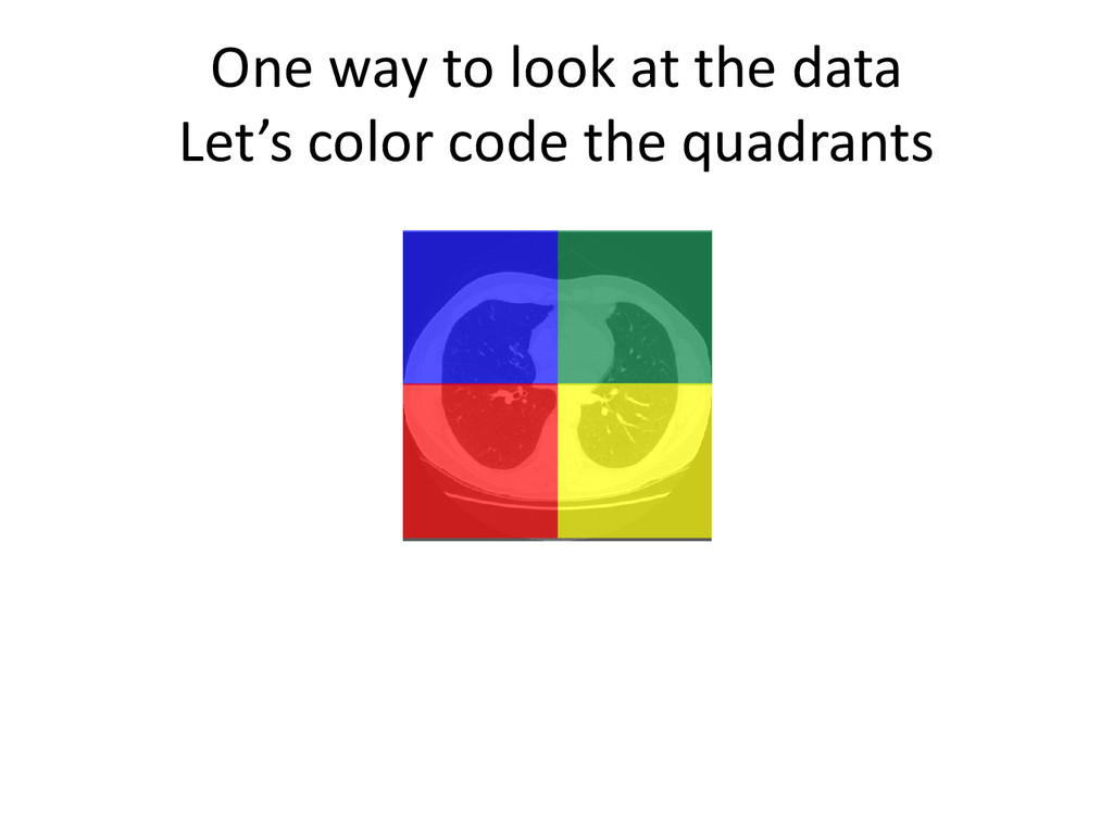 One way to look at the data Let's color code th...