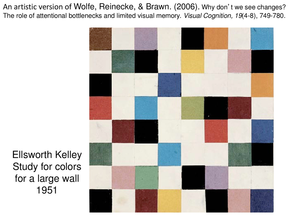 Ellsworth Kelley Study for colors for a large w...