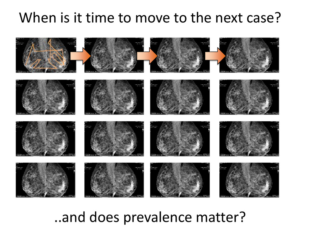 When is it time to move to the next case? ..and...
