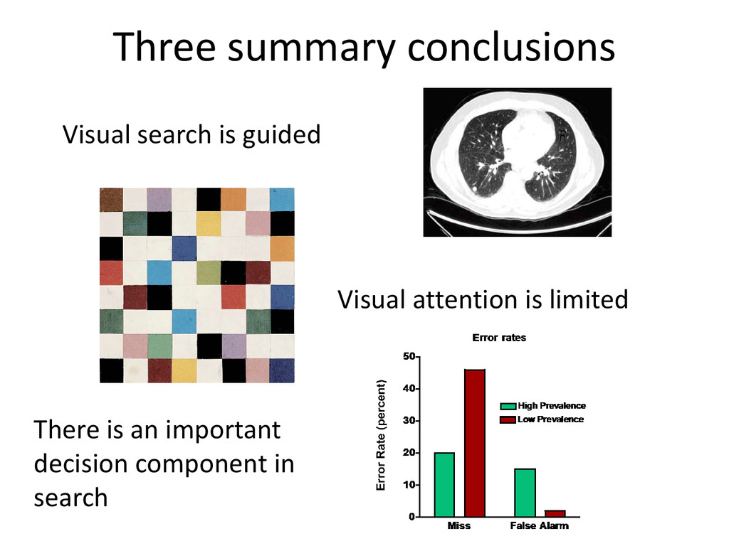 Three summary conclusions Visual search is guid...