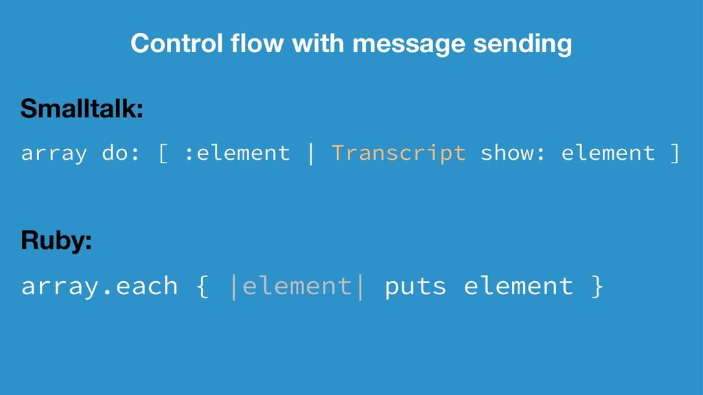 Control flow with message sending Smalltalk: arr...