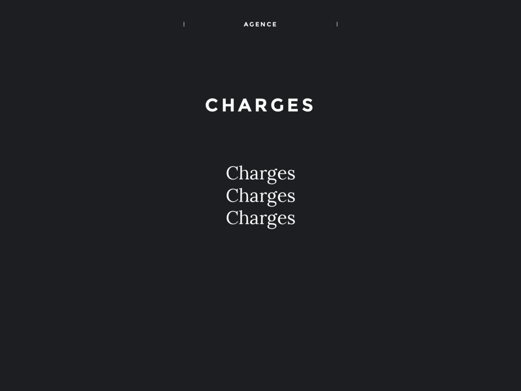 A G E N C E Charges Charges Charges C HA RGES
