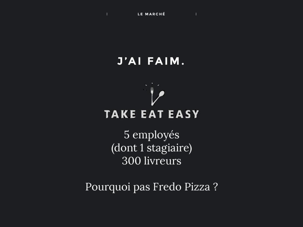 J'A I FAIM. 5 employés (dont 1 stagiaire) 300 l...
