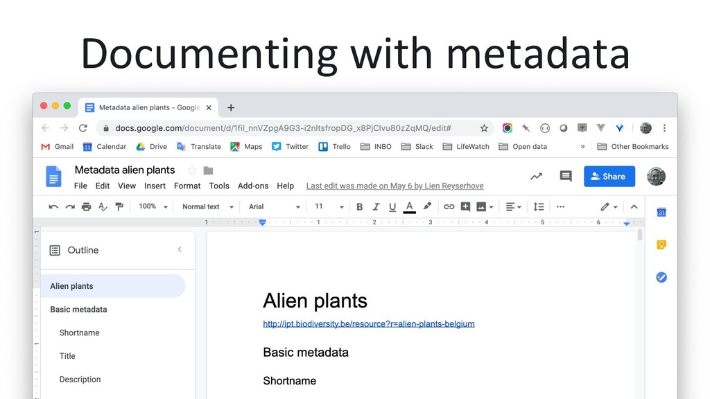 Documenting with metadata