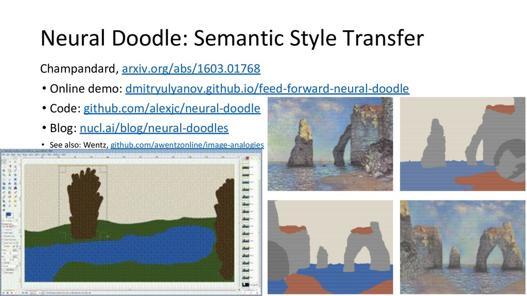Neural Doodle: Semantic Style Transfer Champand...