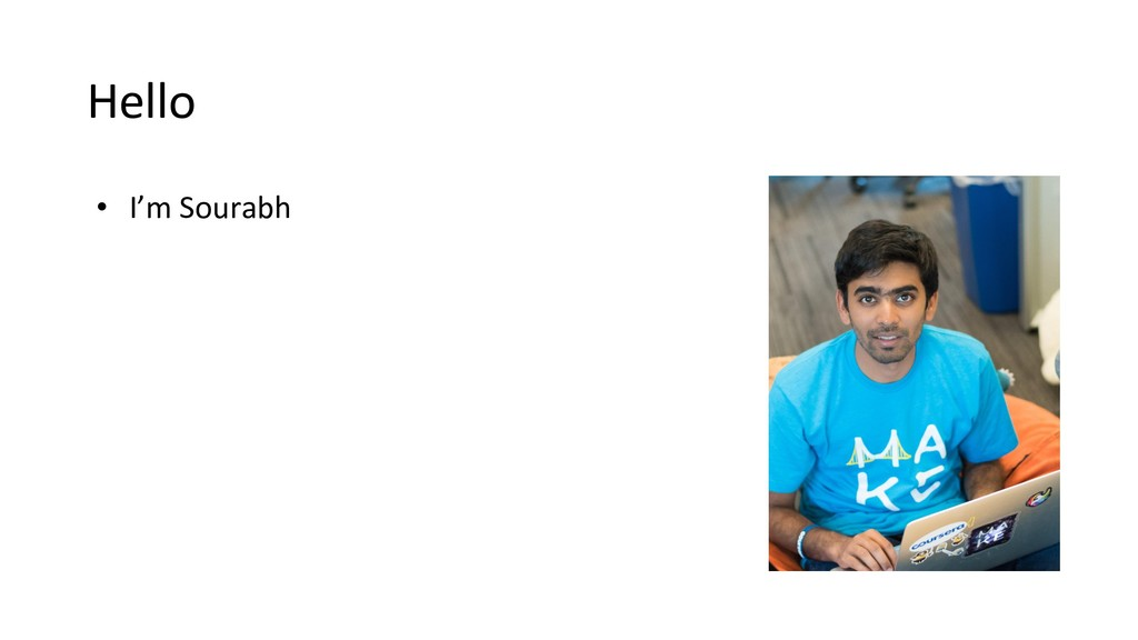 Hello • I'm Sourabh