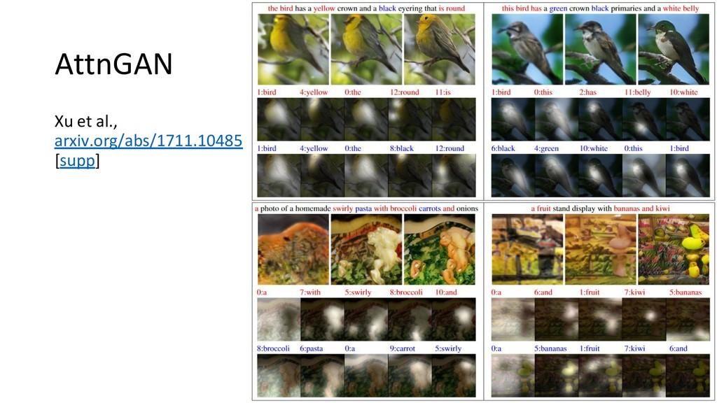 AttnGAN Xu et al., arxiv.org/abs/1711.10485 [su...