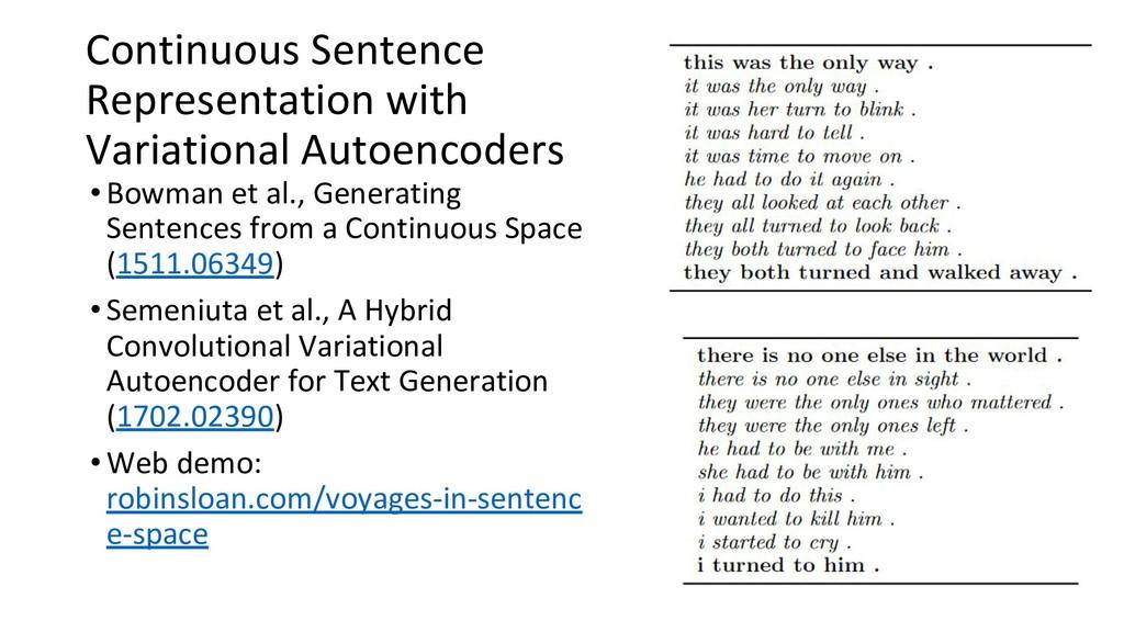 Continuous Sentence Representation with Variati...