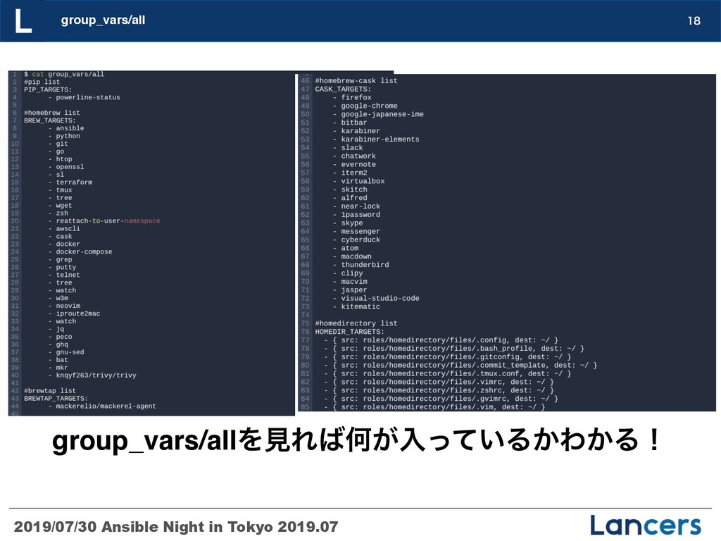 2019/07/30 Ansible Night in Tokyo 2019.07 group...