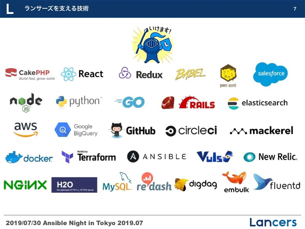 2019/07/30 Ansible Night in Tokyo 2019.07  ϥϯα...