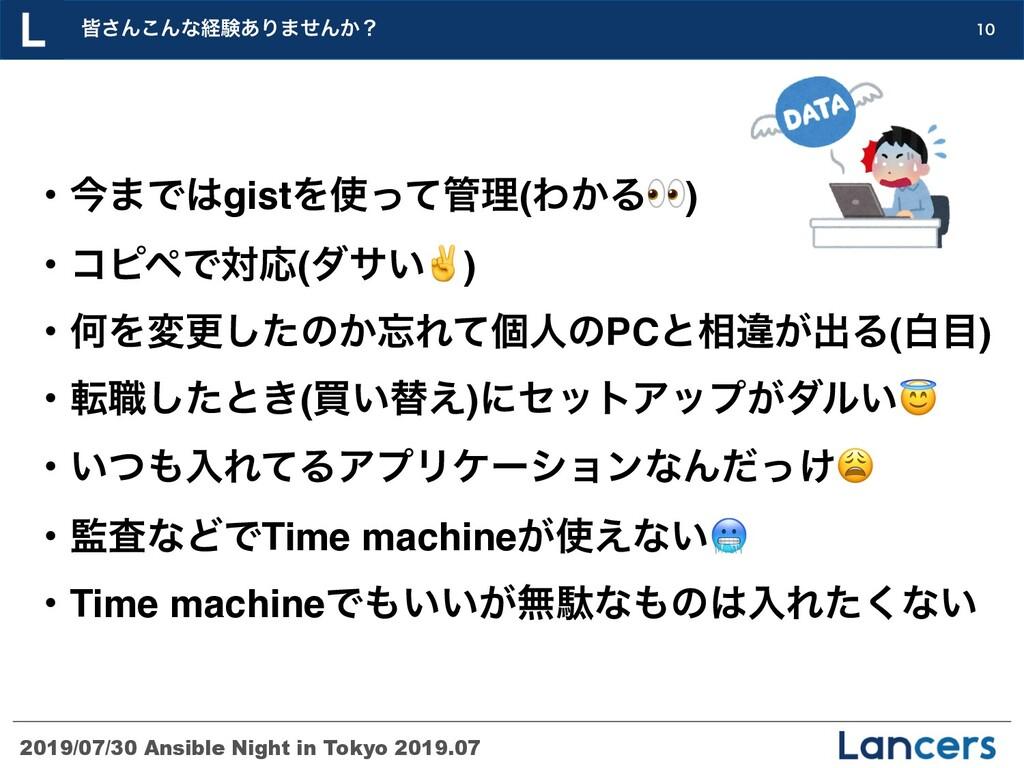 2019/07/30 Ansible Night in Tokyo 2019.07 օ͞Μ͜Μ...