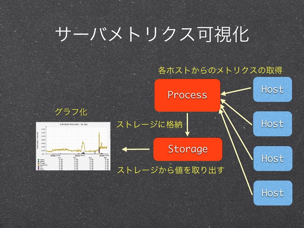 αʔόϝτϦΫεՄࢹԽ Host Host Host Host Process Storage...
