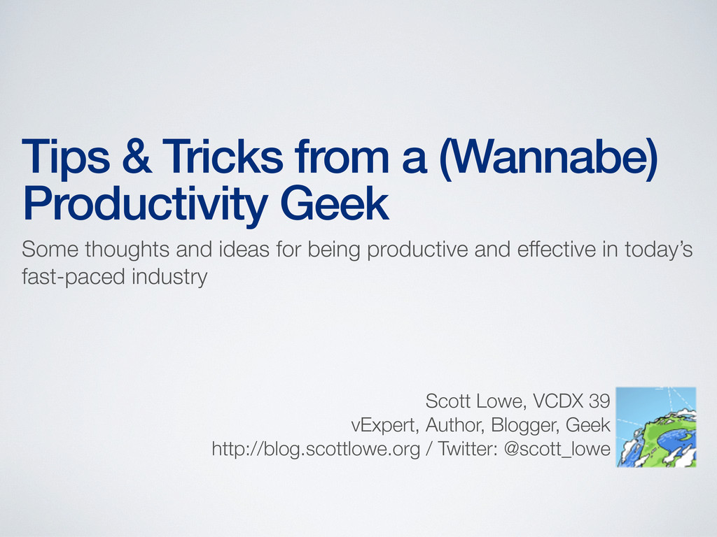 Tips & Tricks from a (Wannabe) Productivity Gee...