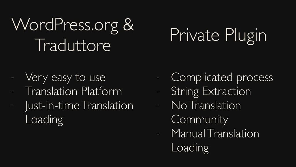 WordPress.org & Traduttore Private Plugin - Ver...
