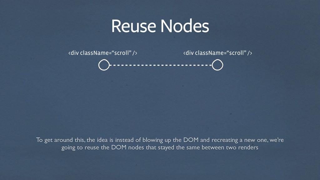 """Reuse Nodes <div className=""""scroll"""" /> <div cla..."""