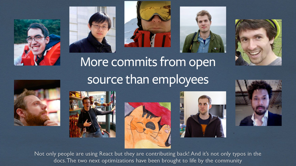 More commits from open source than employees No...