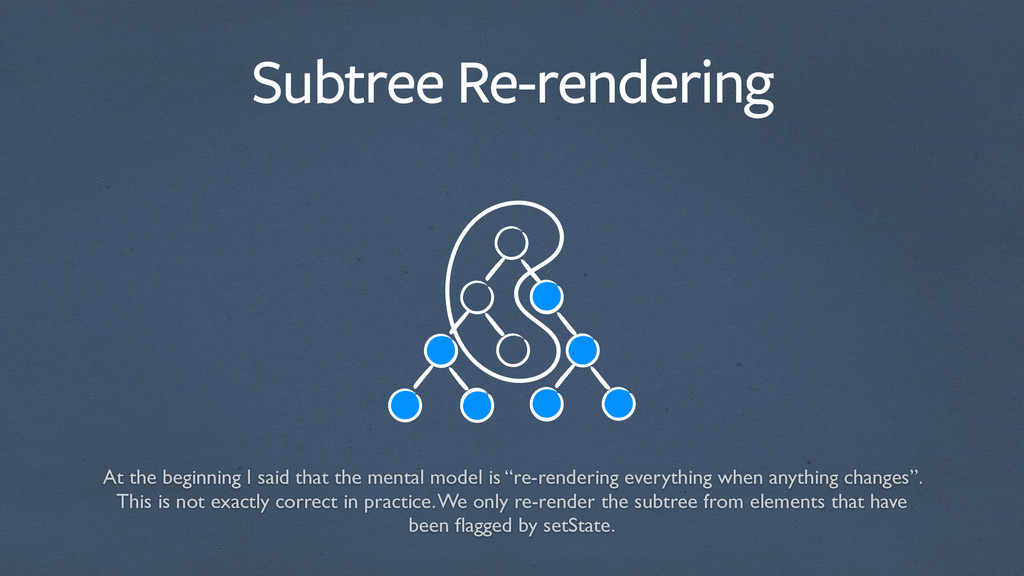 Subtree Re-rendering At the beginning I said th...