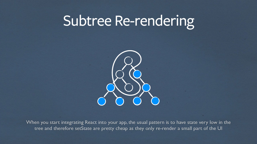 Subtree Re-rendering When you start integrating...