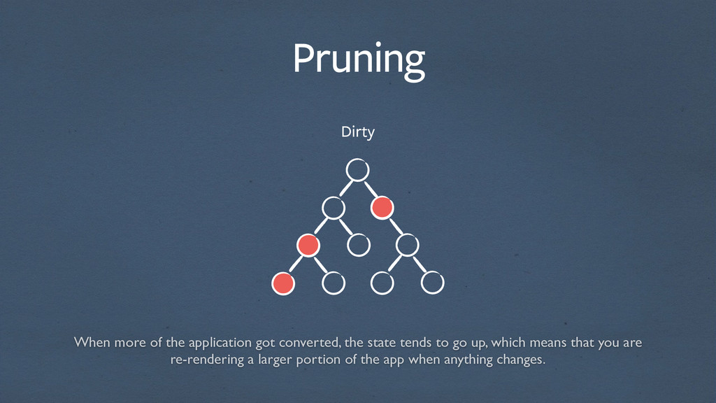 Pruning Dirty When more of the application got ...