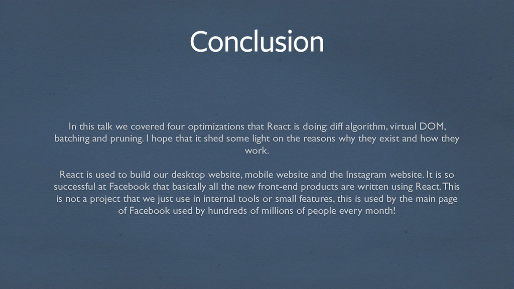 In this talk we covered four optimizations that...