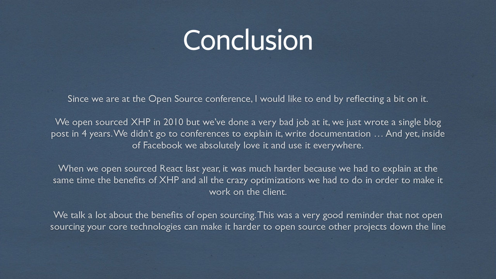 Since we are at the Open Source conference, I w...