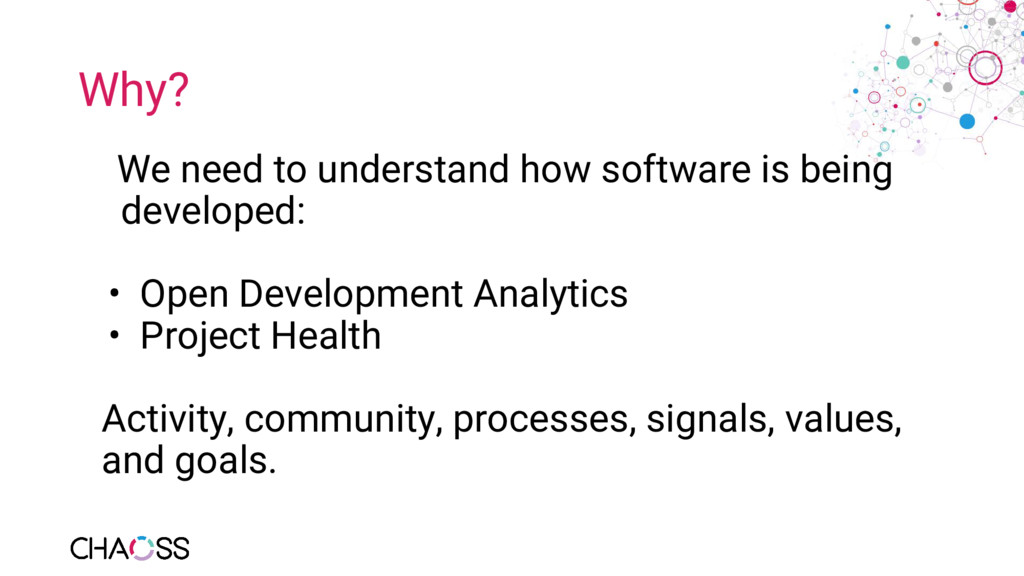 Why? We need to understand how software is bein...