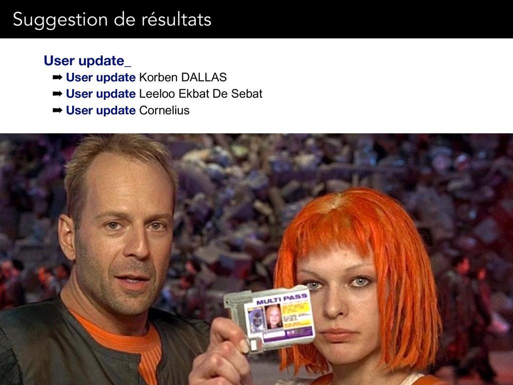 User update_ ➡ User update Korben DALLAS ➡ User...