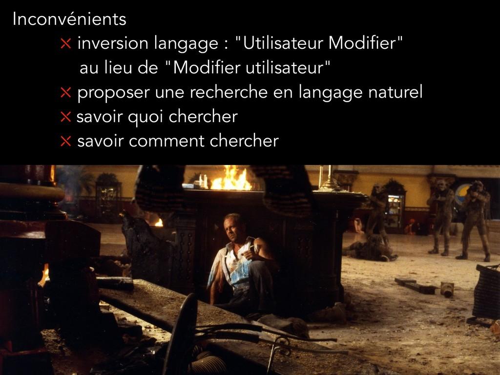"""⤬ inversion langage : """"Utilisateur Modifier"""" au..."""