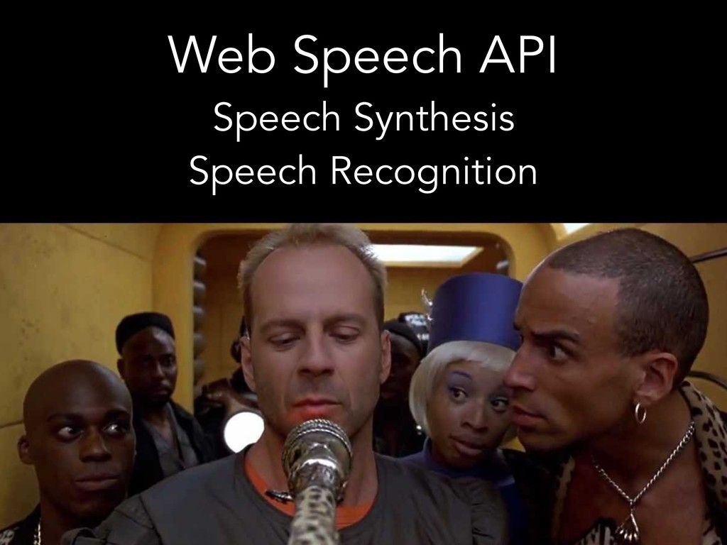 Web Speech API Speech Synthesis Speech Recognit...