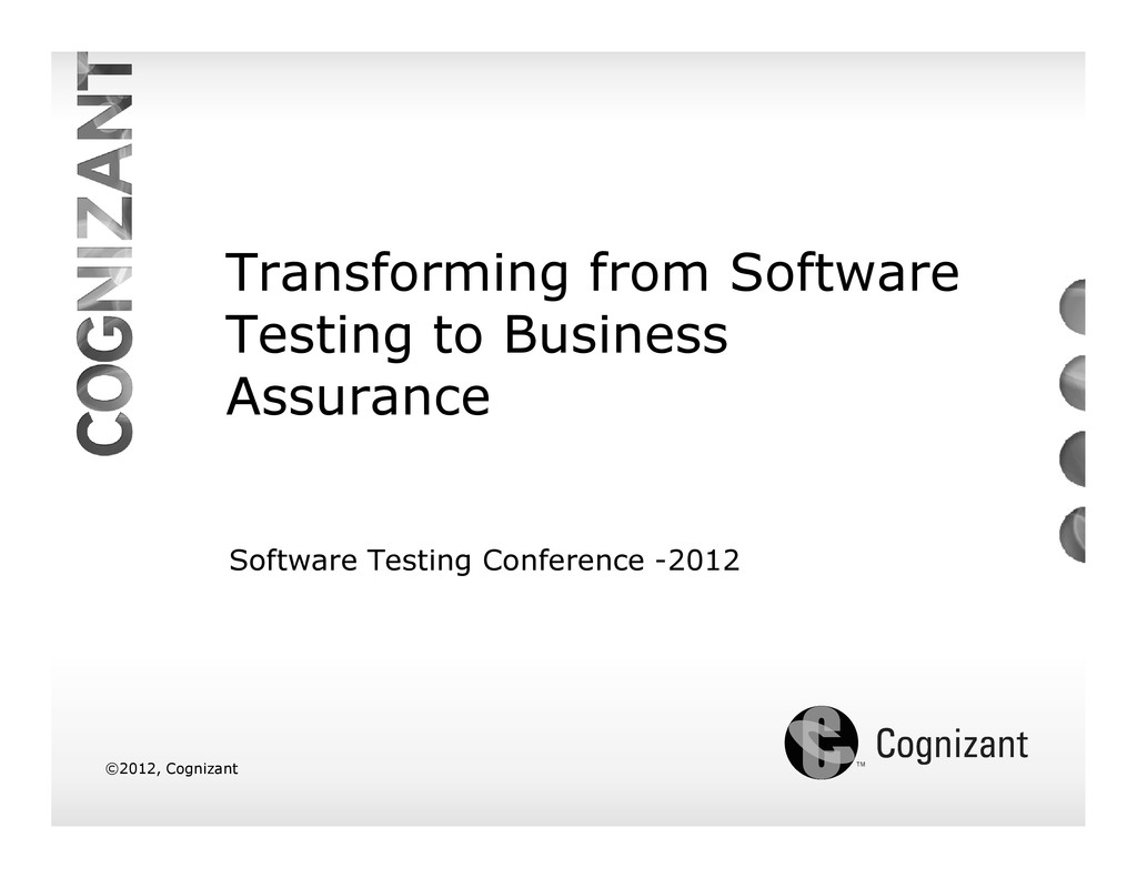 Transforming from Software Testing to Business ...