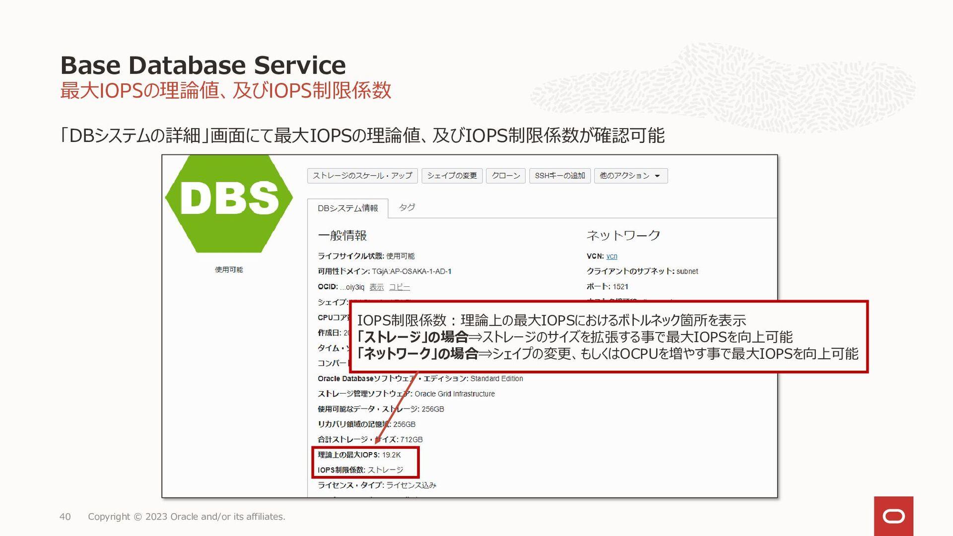 40 運用・管理範囲の違い Database Cloud Service BM / VM Co...