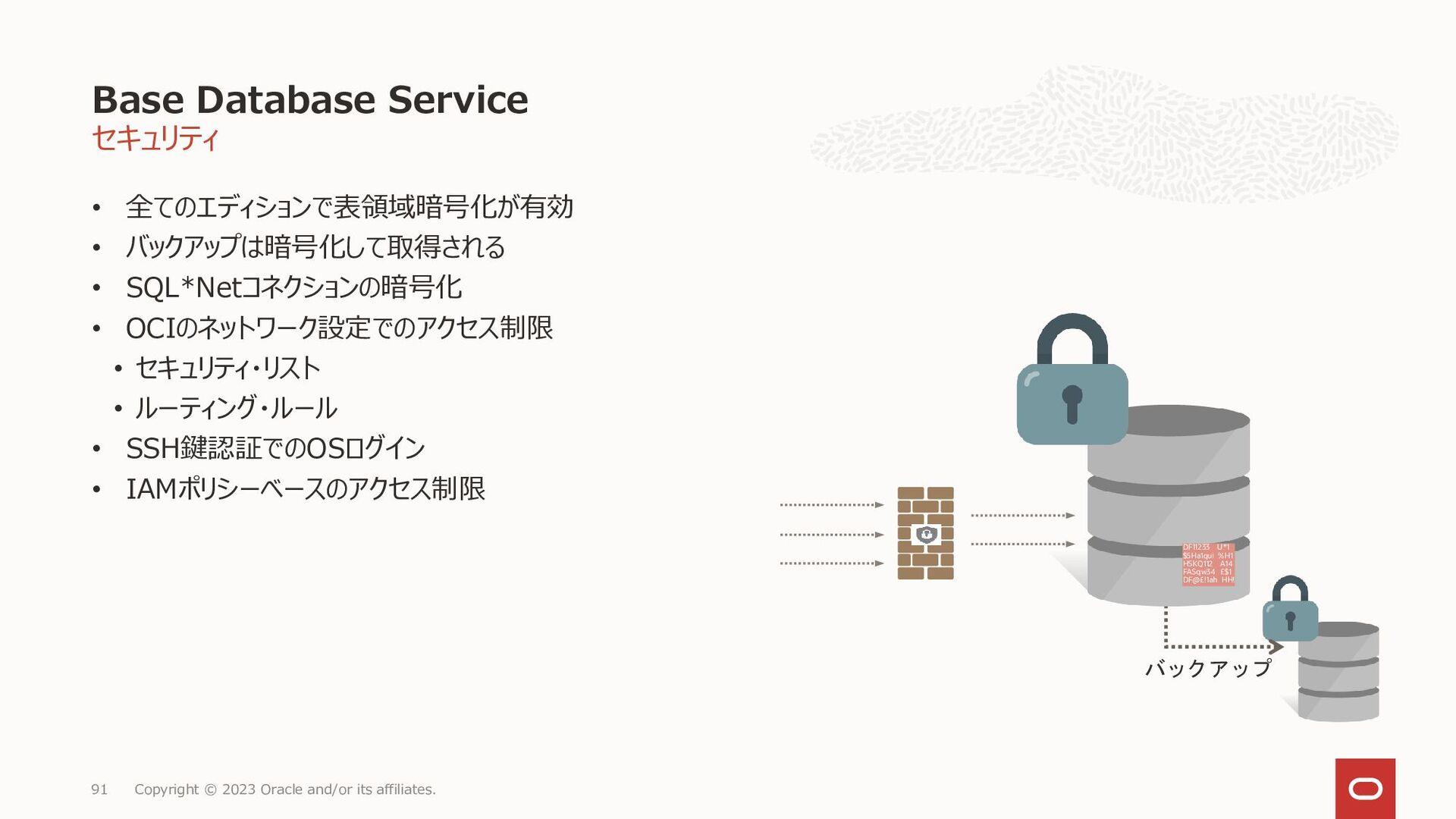 OCI DBCSのストレージIOPSは公表されておりません VMの場合Block Volume...