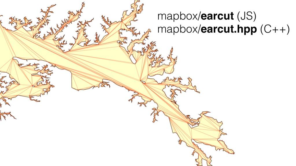 mapbox/earcut (JS) mapbox/earcut.hpp (C++)