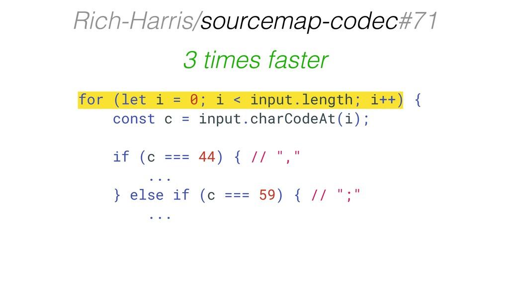 Rich-Harris/sourcemap-codec#71 for (let i = 0; ...