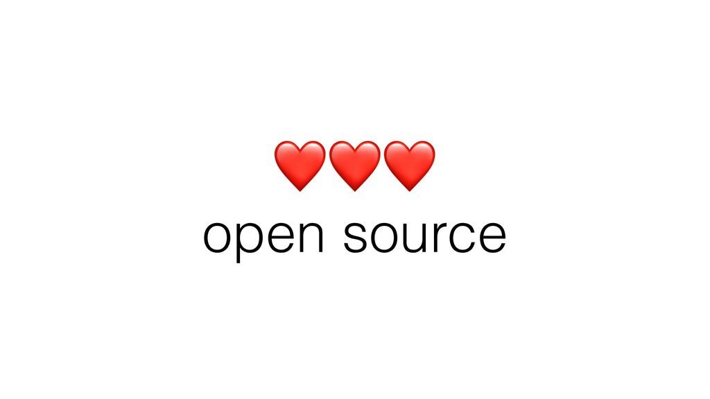 ❤❤❤ open source