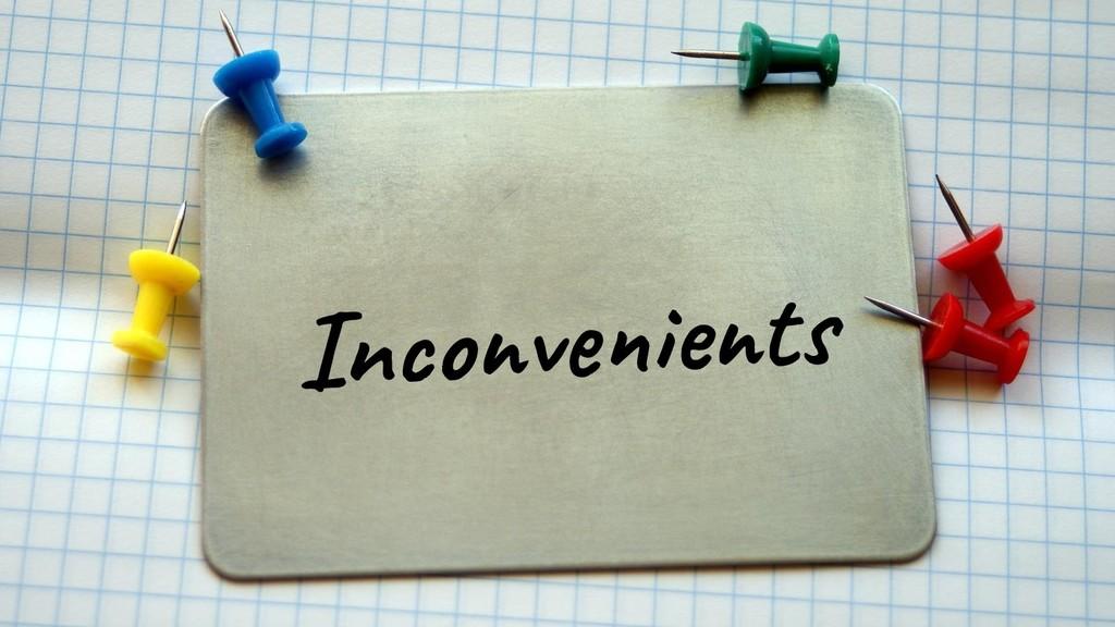 @glaforge Inconvenients