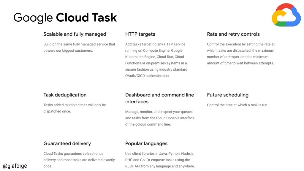 @glaforge Google Cloud Task