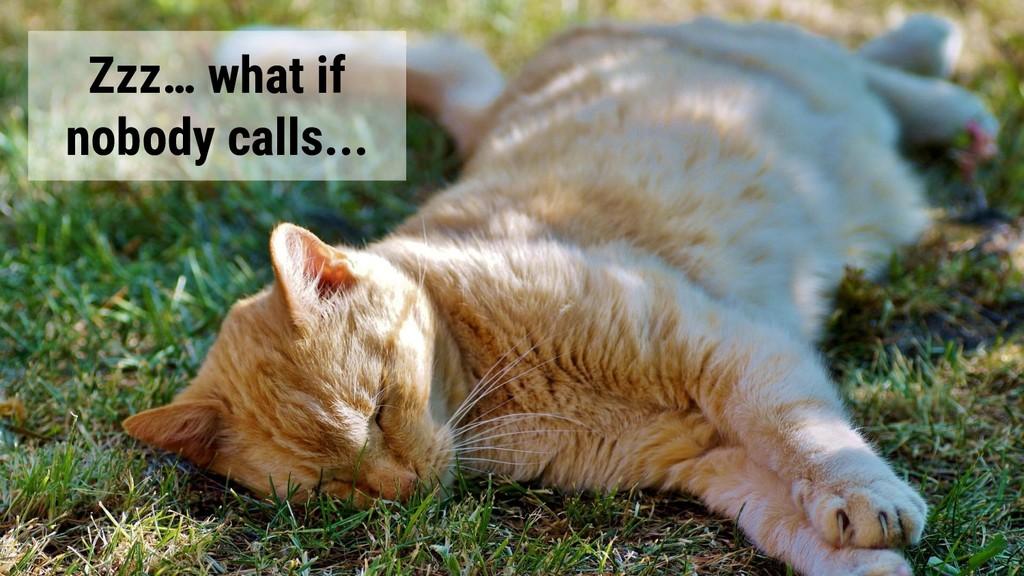 @glaforge Zzz… what if nobody calls...