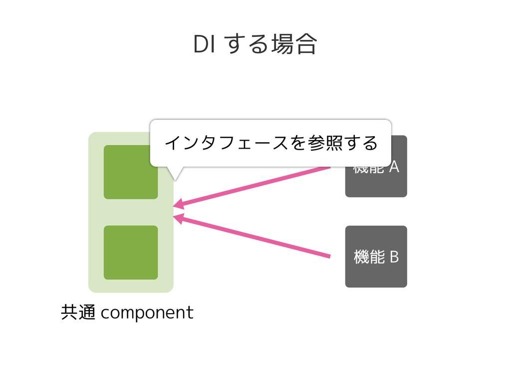 共通 component DI する場合 インタフェースを参照する