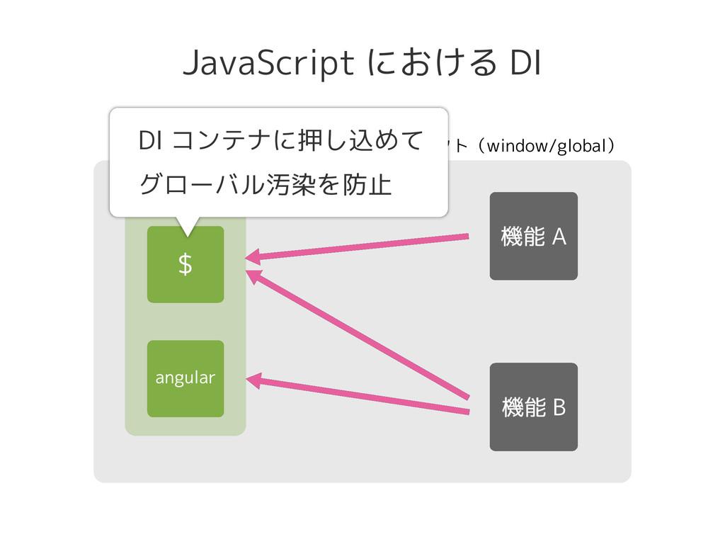 JavaScript における DI グローバルオブジェクト(window/global) D...