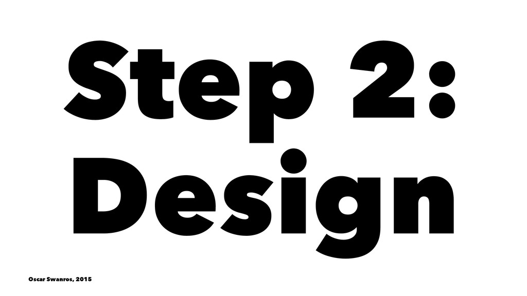Step 2: Design Oscar Swanros, 2015