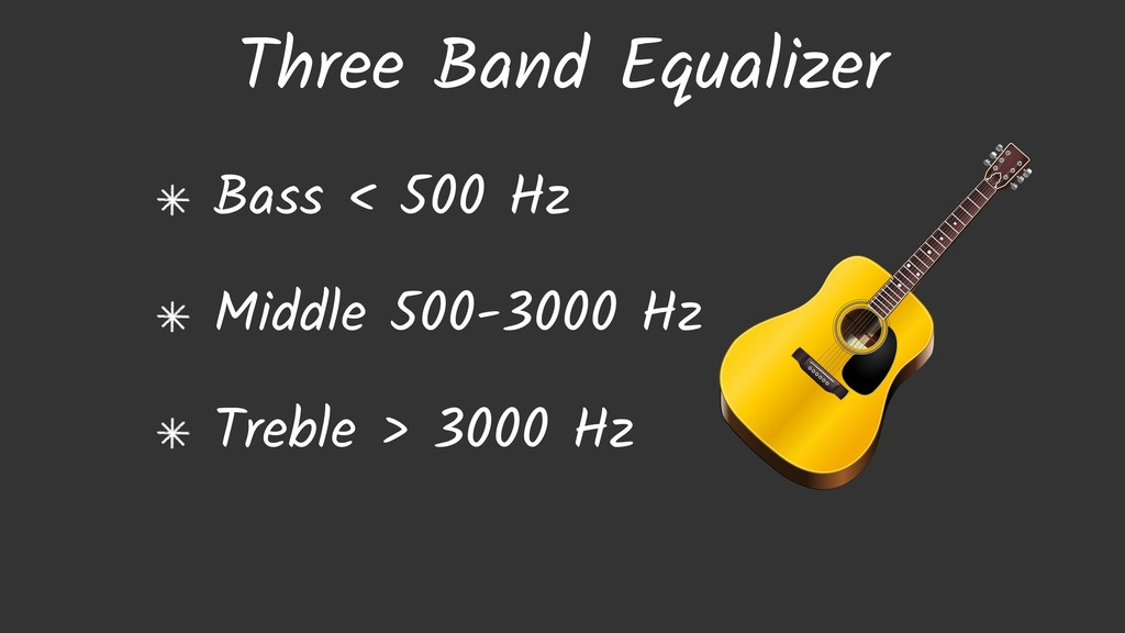 Three Band Equalizer Bass < 500 Hz Middle 500-3...