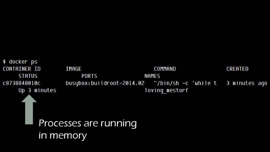Processes are running in memory