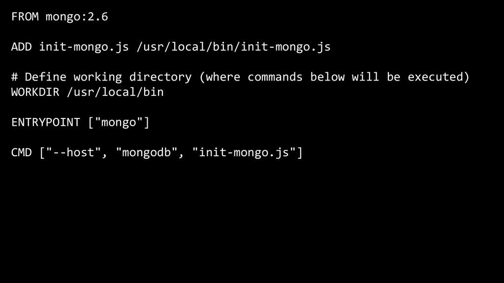 FROM mongo:2.6 ADD init-mongo.js /usr/local/bin...
