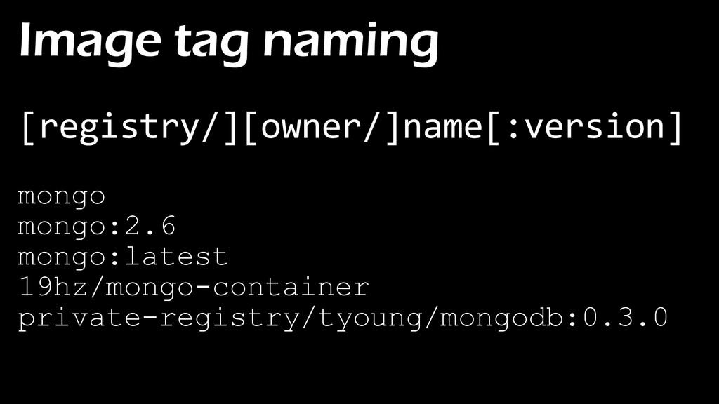 Image tag naming [registry/][owner/]name[:versi...